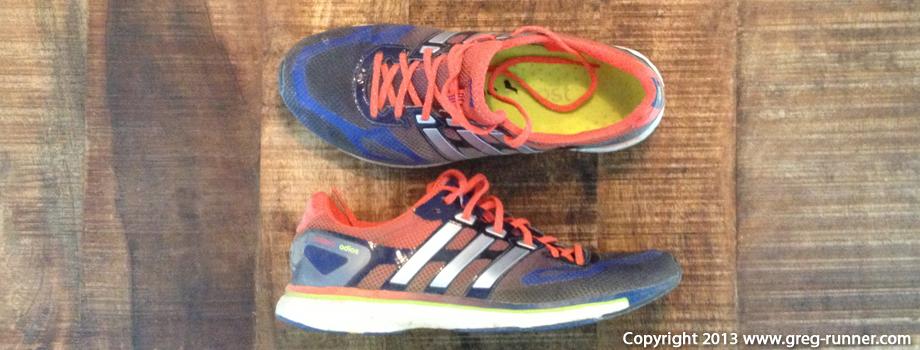 Test des chaussures de running: les Adidas Adizero Adios Boost
