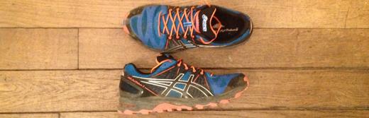 Saintelyon: chaussures Asics Gel-Fuji Trabuco 2