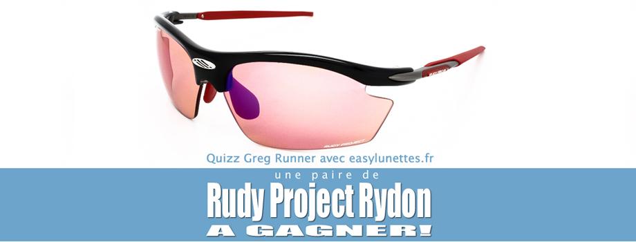 Quiz-concours: lunettes de soleil running Rudy project Rydon à gagner