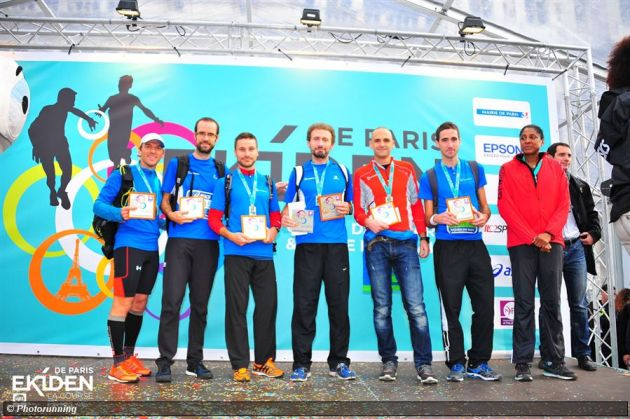 Podium Ekiden de Paris