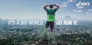 Asics: It's a big world. Go run it