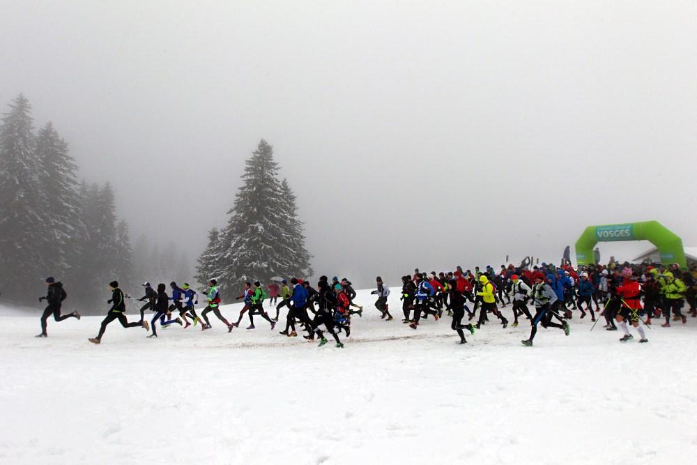 Départ Trail Blanc des Vosges 17km