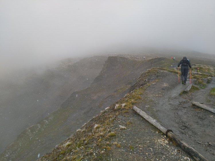 UTMB: brouillard, froid et neige