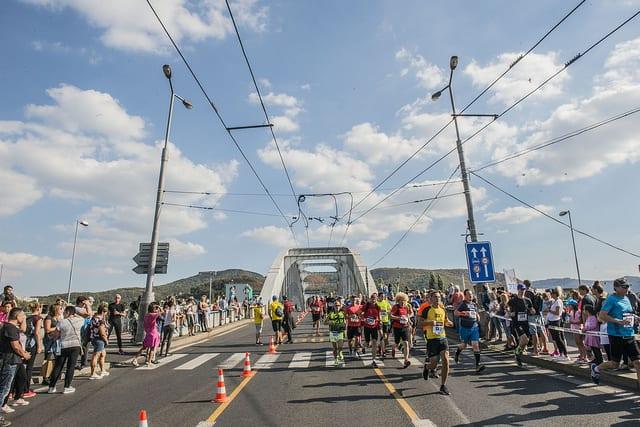 Semi marathon de Usti nad labem: le pont