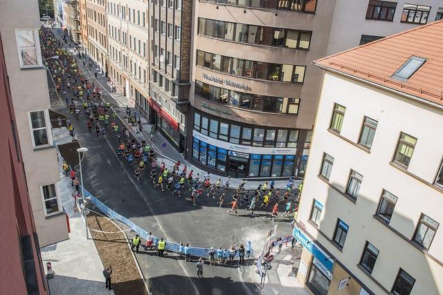 Semi marathon de Usti nad labem: parcours en ville