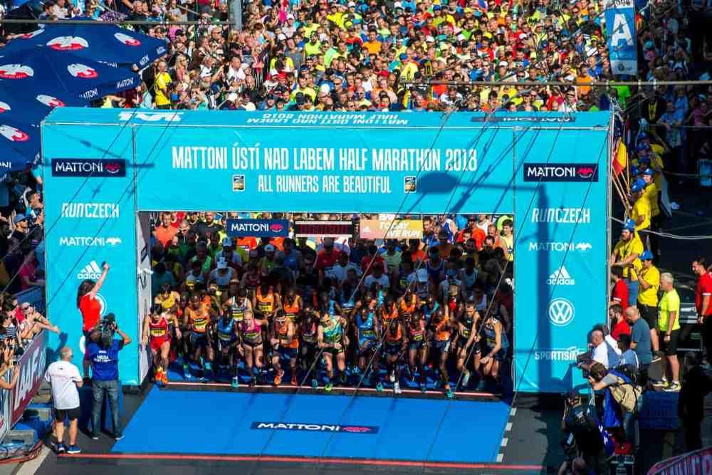 Semi marathon de usti nad labem: départ