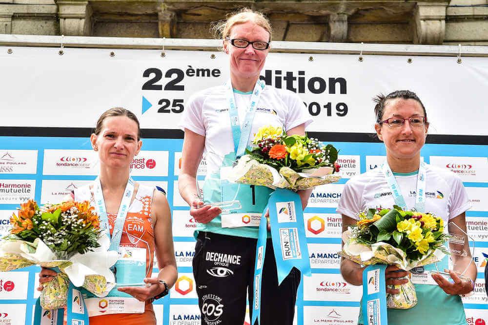 10km du Mont Saint-Michel: podium Femmes