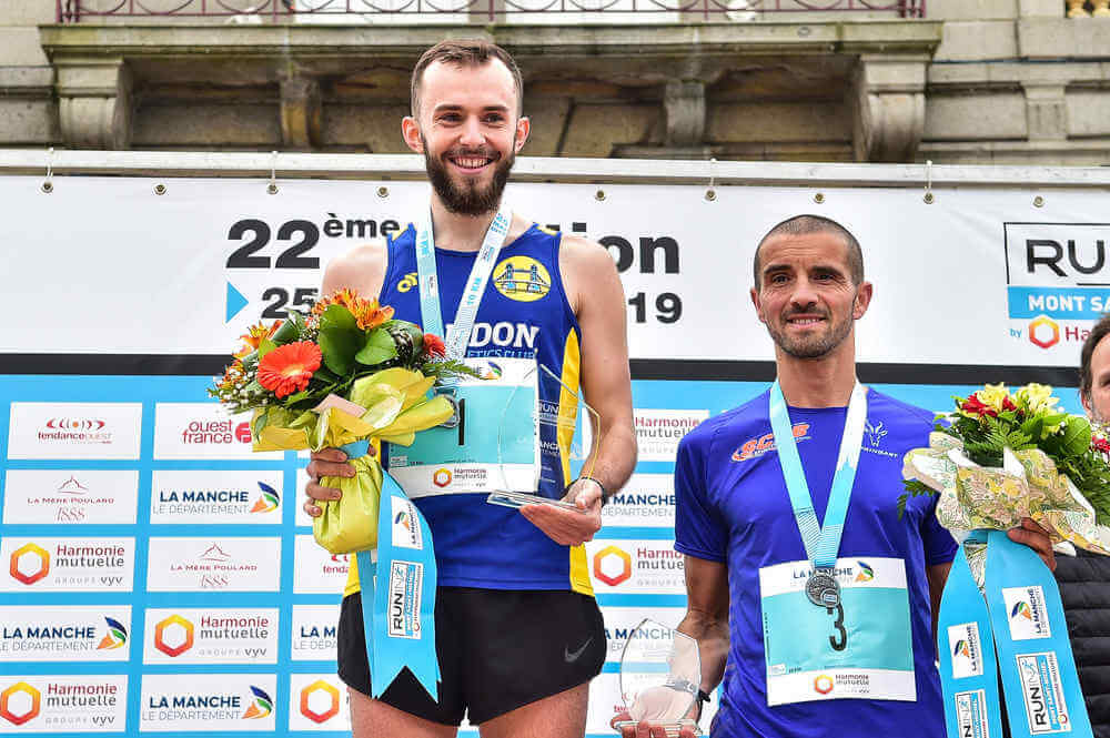 10km du Mont Saint-Michel: podium Hommes
