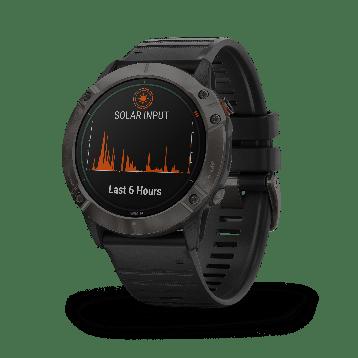 La Garmin Fenix 6X Solar permet de recharger la montre grâce à l'énergie solaire
