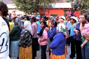 Tarahumara watching entertainment night before Copper Canyon Ultra Marathon