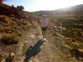 Downhill running at Desert RATS 25 mile race