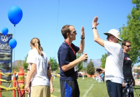 High Five at the Finish of the Red Mountain 50k