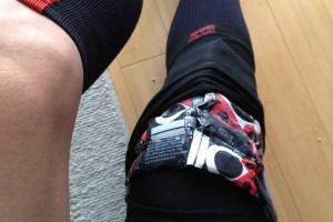 Ice packs on TR's knee