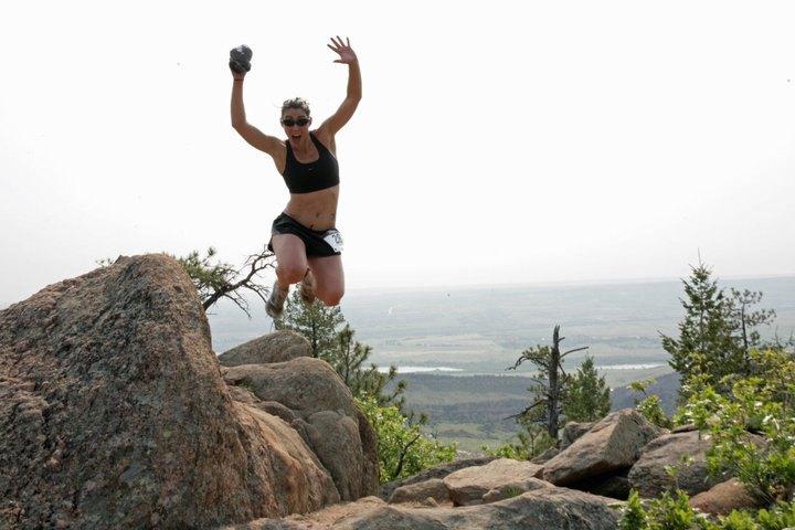 Fear the Deer Half Marathon 2012 runner jumping picture