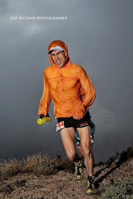 Picture of Yassine Diboun in the cold at Western States 100