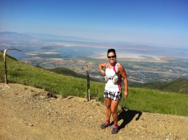 Picture of Andrea Martinez on 40 mile training run for Wasatch 100