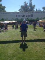 picture of craig lloyd at the finish line of the wasatch 100