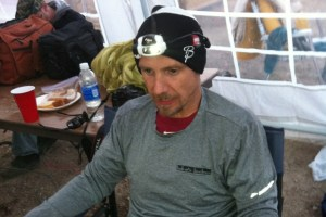 picture of mark kreuzer wearing the petzl nao headlight at the wasatch 100