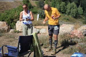 picture of mark kreuzer at the big mountain aid station wasatch 100
