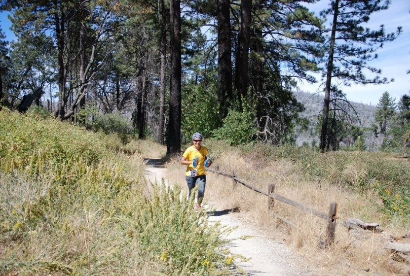 picture of vanessa rodriguez running the cuyamaca 100k ultra marathon