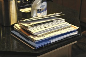 picture of mail stacking up because of a lot of ultra running