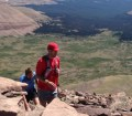 picture of matt williams climbing to the top of kings peak utah
