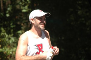 Shannon is all smiles after his 50-mile win.