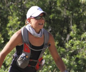 picture of runner coming up from lambs canyon at the 2013 wasatch 100