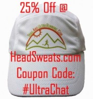 picture of trailandultrarunning.com hat with 25% coupon from headsweats