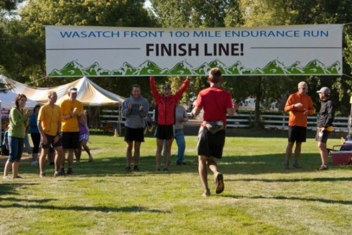 Josh Greenwell finishing the 2012 Wasatch 100