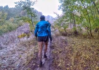 Climbing through the mud in the 2016 Bear 100
