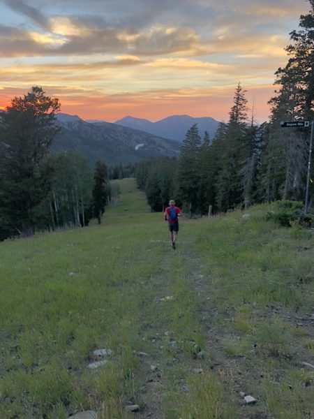 Sunset trail running