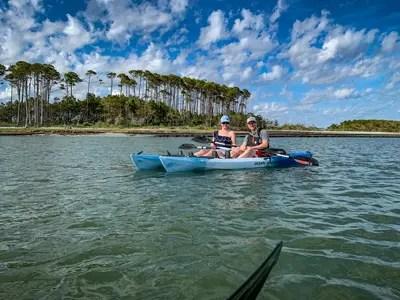 Couple Kayaking in North Myrtle Beach