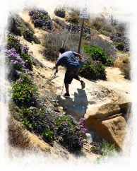 man climb