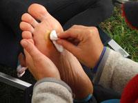 Carsten Nøhr Nielsens fødder får den store tur under Crossroads Portugal 2015. Foto: Ukendt