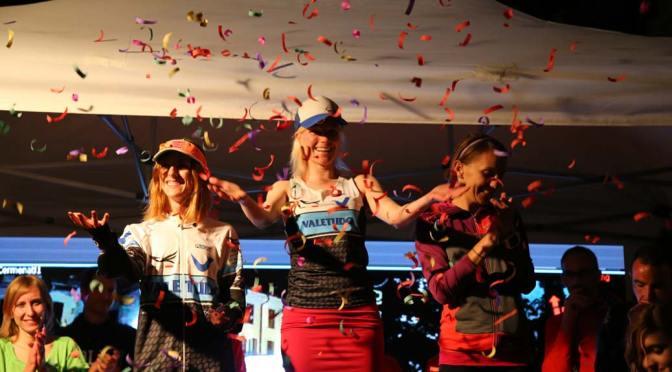 Katrine Villumsen på sejrspodiet efter ResegUp 2016, hvor hun satte rekord