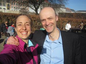 Tracy Høeg og Trailcaster Lars Michael Sørensen i Kongens Have