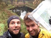 Thomas Kjerstein og Lasse Petersen er ude at reconogsere ruten