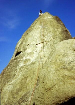 Oct 1978: Climbing On Dinosaur Tower At Peshastin Pinnacles