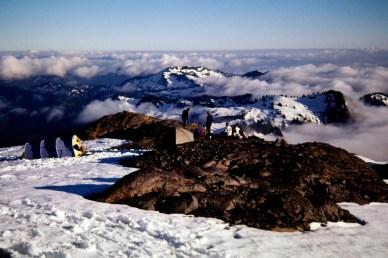 Base Camp On Easton Glacier
