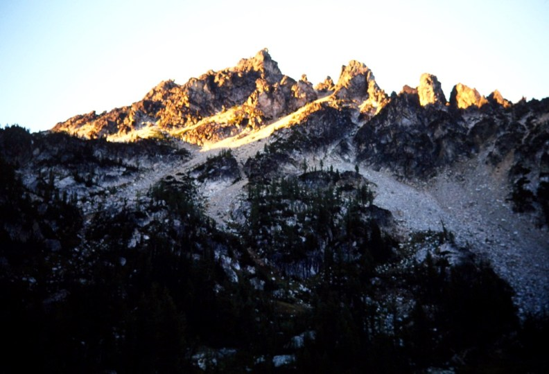 Evening Sun On Saska Peak
