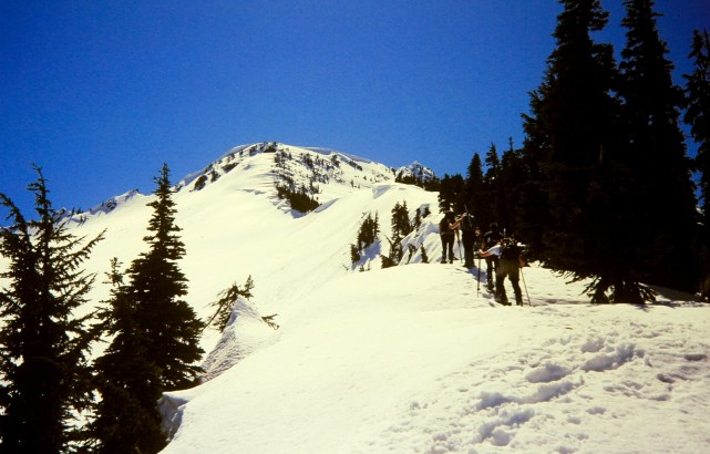 Snowshoeing Up North Ridge Of Jim Hill Mtn