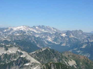 Mt Hinman, Mt Daniel, and Bears Breast Mountain