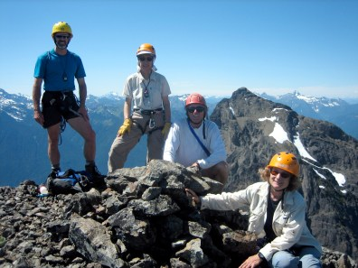 Group On Summit With North Peak