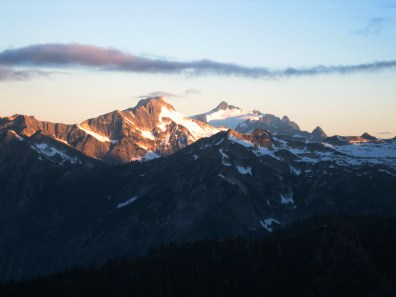 Sunrise On Mt Blum and Mt Shuksan