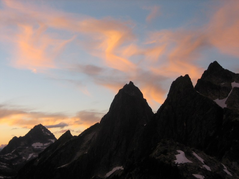Sunset Swirls Over Mt Triumph