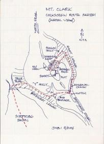 Corkscrew Route Sketch