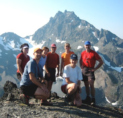 Group At Royal Pass With Mt Mystery