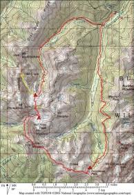 Gunsight Pass Loop Map Large
