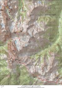 Gunsight Pass Loop Map Small